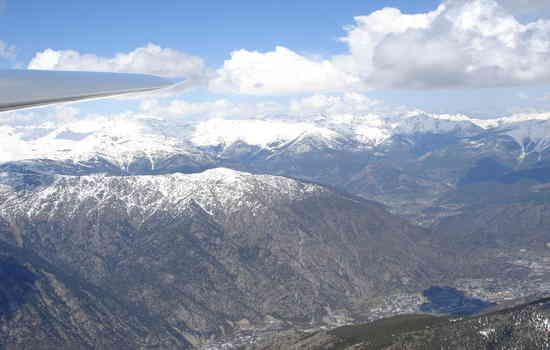 Andorra from the air.